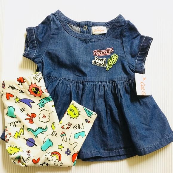 257c2d8f4 Cat & Jack Dresses | Cat Jack Baby Girl Dress Bundle Set 03m | Poshmark